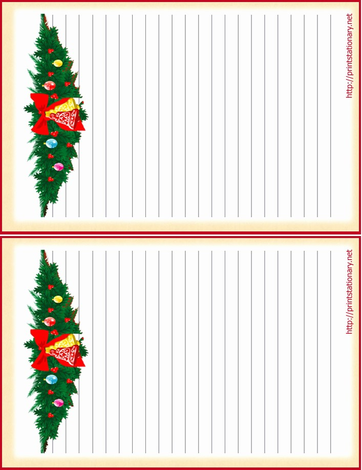 Free Christmas Stationery to Print Unique Free Printable Christmas Letterhead Free Printable Lined