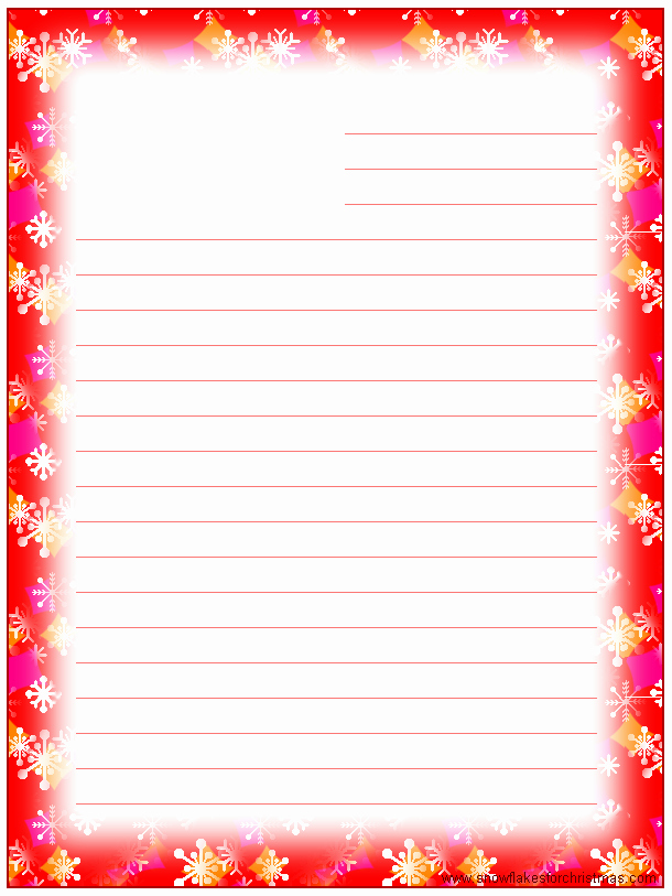 Free Christmas Stationery to Print Unique Lined Paper with Borders Printable 1000 Images About