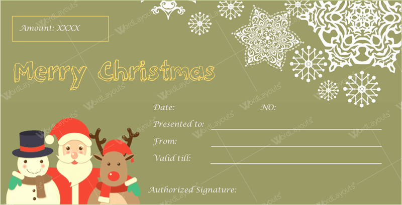 Free Christmas Template for Word Lovely 12 Beautiful Christmas Gift Certificate Templates for Word