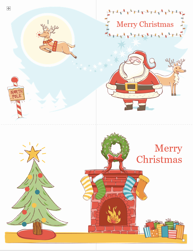 Free Christmas Template for Word Luxury Christmas Card Template