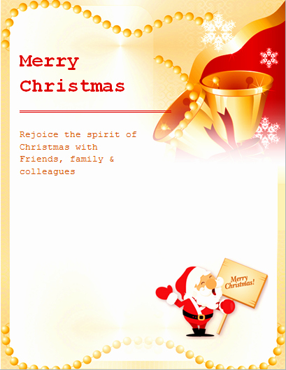 Free Christmas Template for Word Unique Ms Word Colorful Christmas Flyer Templates