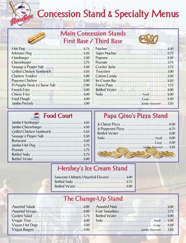 Free Concession Stand Menu Template Elegant 25 Best Ideas About Concession Stands On Pinterest