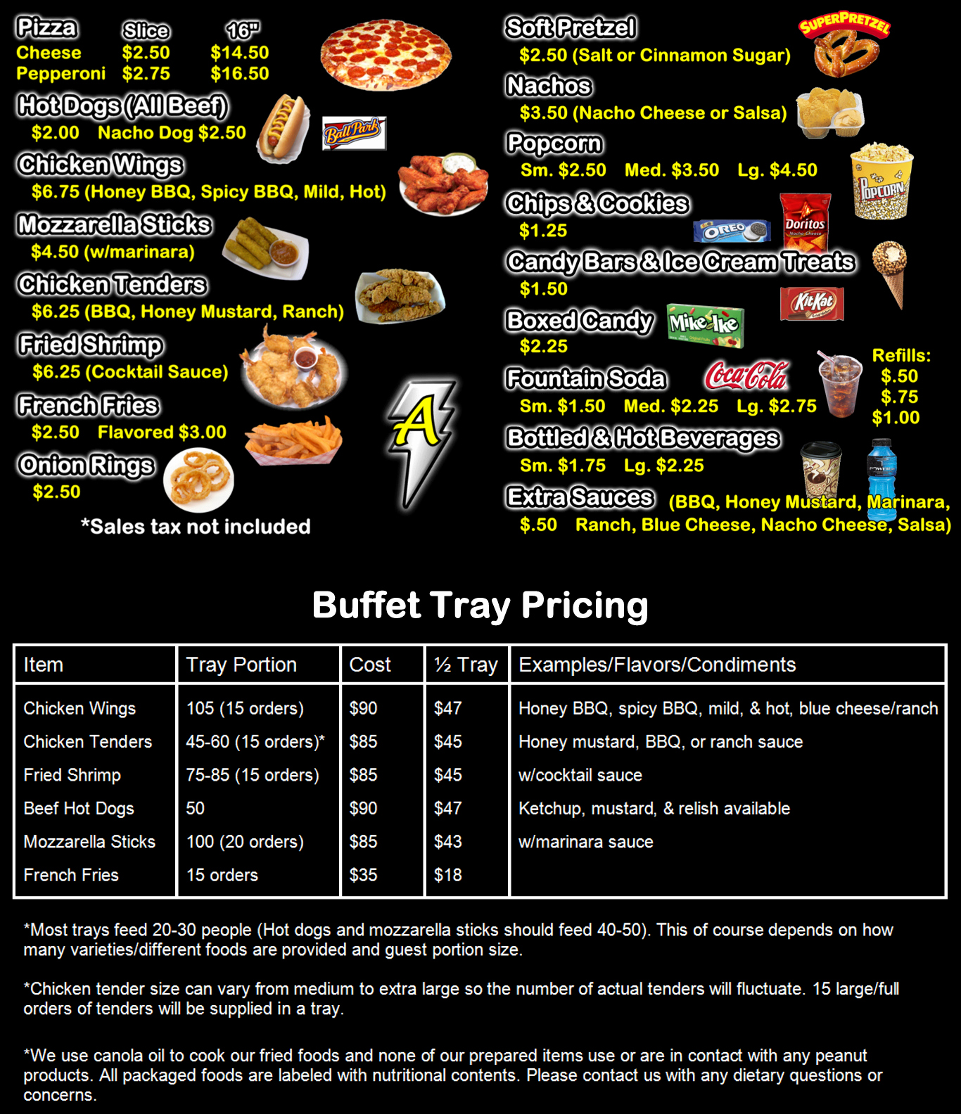 Free Concession Stand Menu Template Elegant Amped Up Concessions