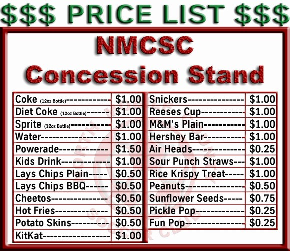 Free Concession Stand Menu Template Lovely the Gallery for Food Drive Posters Templates