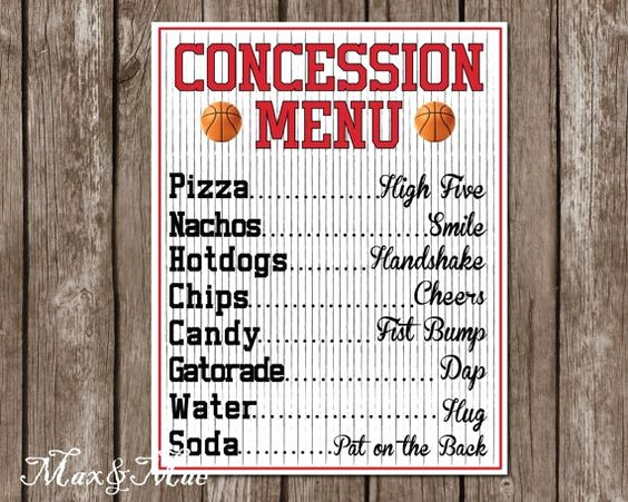 Free Concession Stand Menu Template New 10 Awesome Baseball Party Ideas
