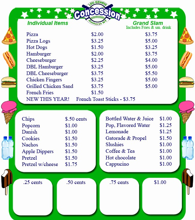 Free Concession Stand Menu Template New Concession Stand Menu Template Free Beautiful Template