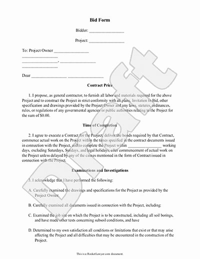 Free Construction Bid Proposal Template Fresh Construction Proposal Template