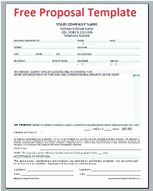 Free Construction Bid Proposal Template Luxury Construction Bid Proposal Template Word Full Size