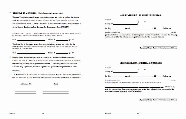 Free Construction Bid Proposal Template Unique Bid Proposal Template 6 Best Proposal Examples