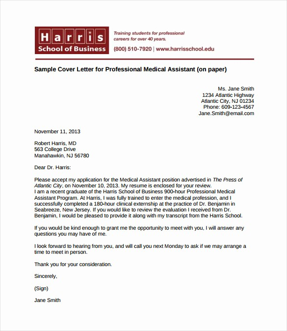 Free Cover Letter Template Download Elegant How You Write Medical assistant Cover Letter with No