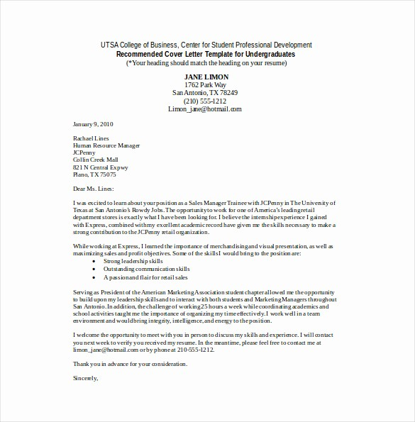 Free Cover Letter Templates Pdf Best Of Sales Cover Letter Template – 8 Free Word Pdf Documents