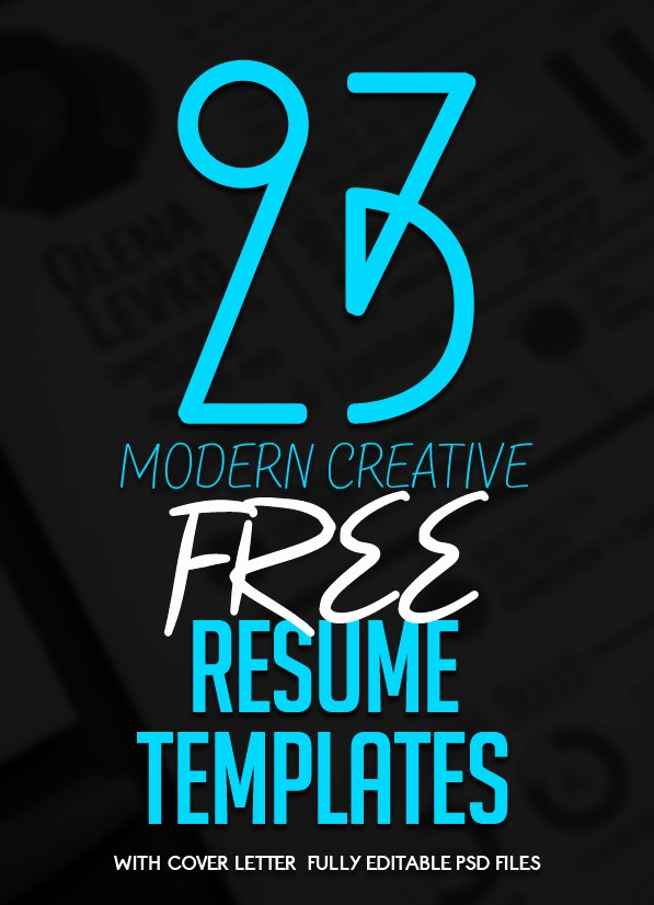 Free Creative Cover Letter Templates Beautiful 23 Free Creative Resume Templates with Cover Letter