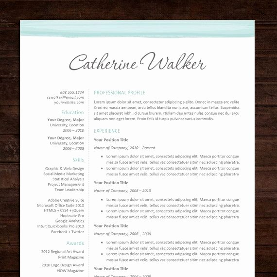 Free Creative Cover Letter Templates Beautiful Google Docs Resume Template