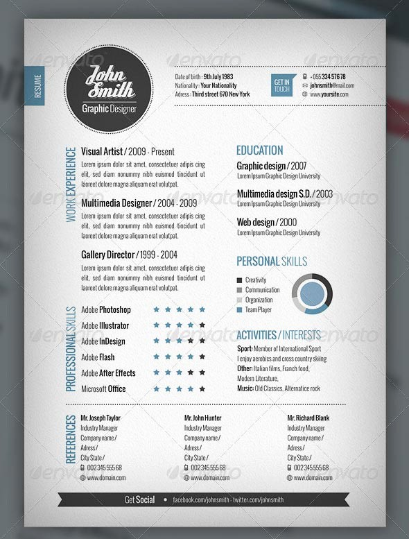 Free Creative Cover Letter Templates Beautiful Phuket Resume Collection and Creative Design 21 Stunning