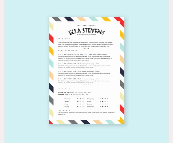 Free Creative Cover Letter Templates Inspirational Creative Resume Template – 81 Free Samples Examples
