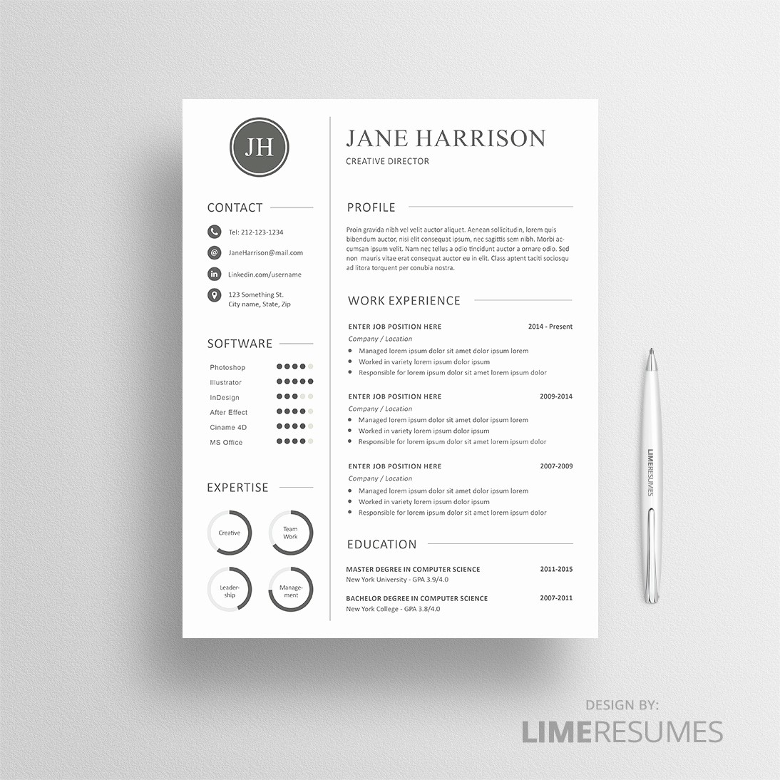 Free Creative Cover Letter Templates Inspirational Creative Resume Template for Creatives Limeresumes