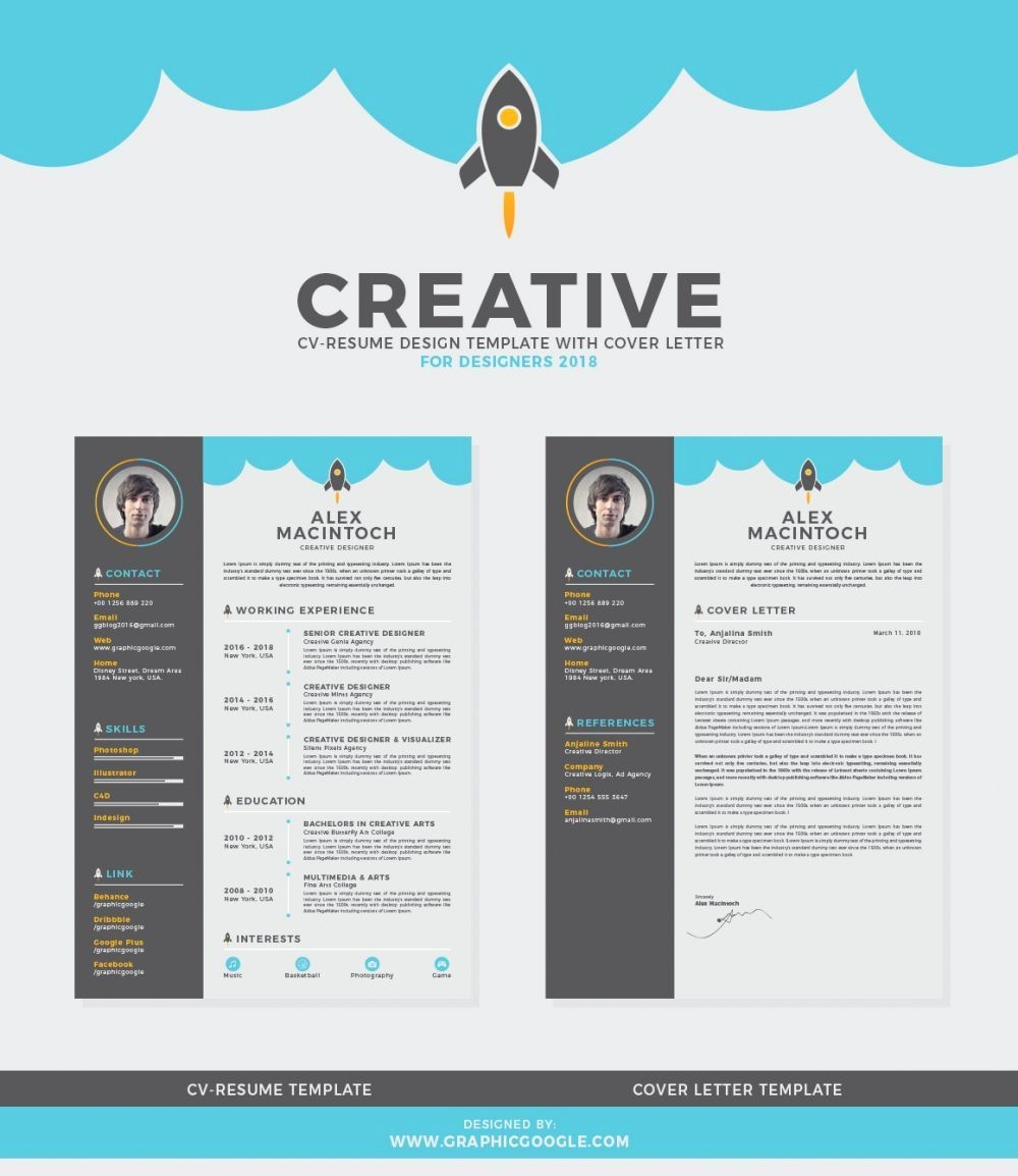 Free Creative Cover Letter Templates New 75 Best Free Resume Templates Of 2018