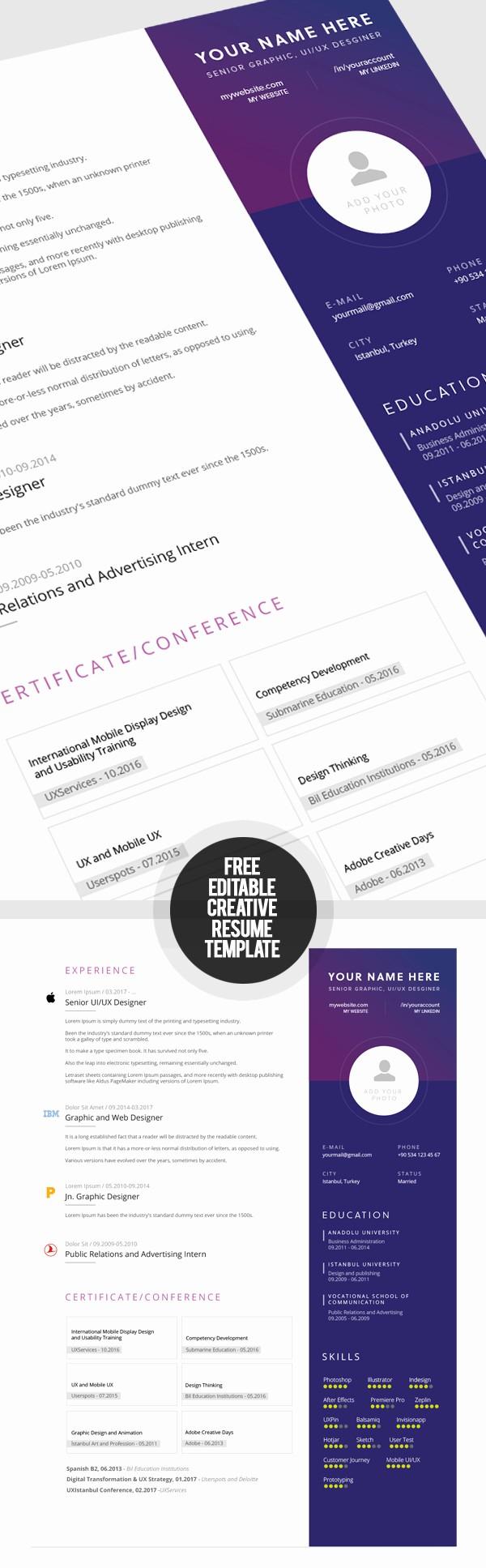 Free Creative Cover Letter Templates Unique 23 Free Creative Resume Templates with Cover Letter