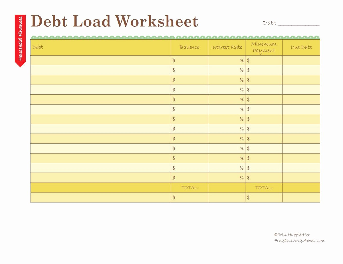 Free Credit Card Tracking Spreadsheet Awesome Calculate Your Debt Load Worksheet