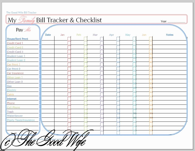 Free Credit Card Tracking Spreadsheet Awesome the Good Wife New Bud Worksheet Bill Tracker and