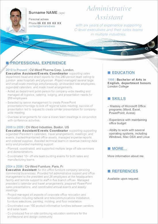 Free Curriculum Vitae Template Word Elegant Resume Templates Microsoft Word Want A Free Refresher