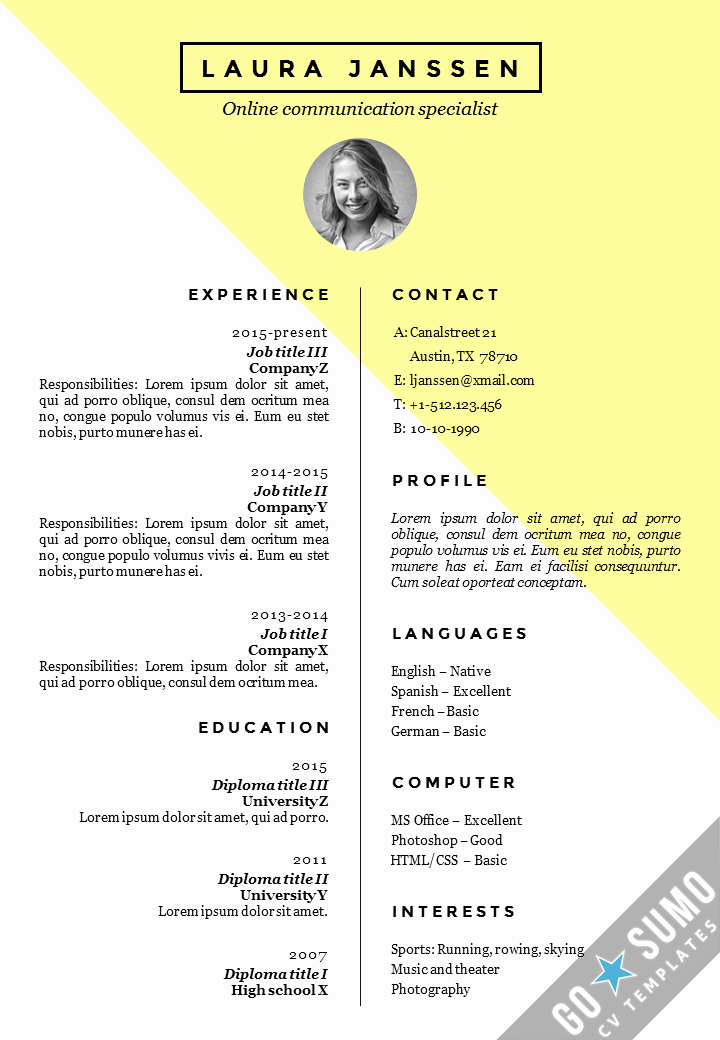 Free Curriculum Vitae Template Word Fresh Cv Resume Template Stockholm