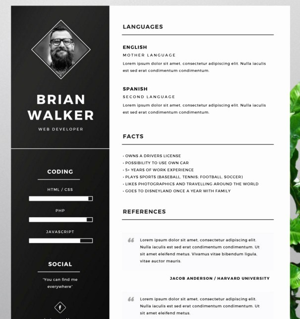 photoshop resume template 463