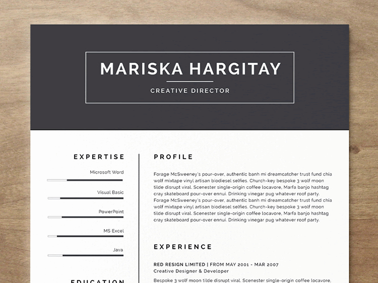 Free Curriculum Vitae Template Word New 20 Beautiful & Free Resume Templates for Designers