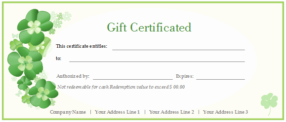 Free Customizable Printable Gift Certificates Beautiful Free Gift Certificate Templates Customizable and Printable