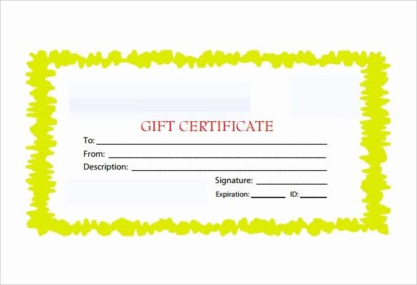 Free Customizable Printable Gift Certificates Fresh 30 Blank Gift Certificate Templates Doc Pdf