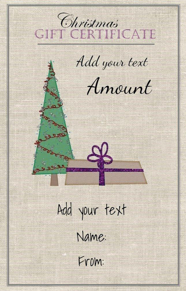 Free Customizable Printable Gift Certificates Fresh Free Christmas Gift Certificate Template
