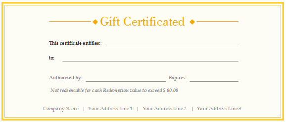 Free Customizable Printable Gift Certificates Fresh Free Gift Certificate Templates Customizable and Printable