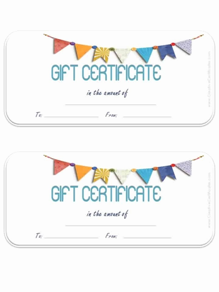 Free Customizable Printable Gift Certificates Luxury Free Gift Certificate Template