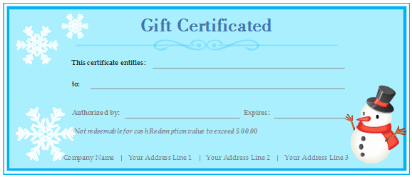 Free Customizable Printable Gift Certificates New Free Gift Certificate Templates Customizable and Printable