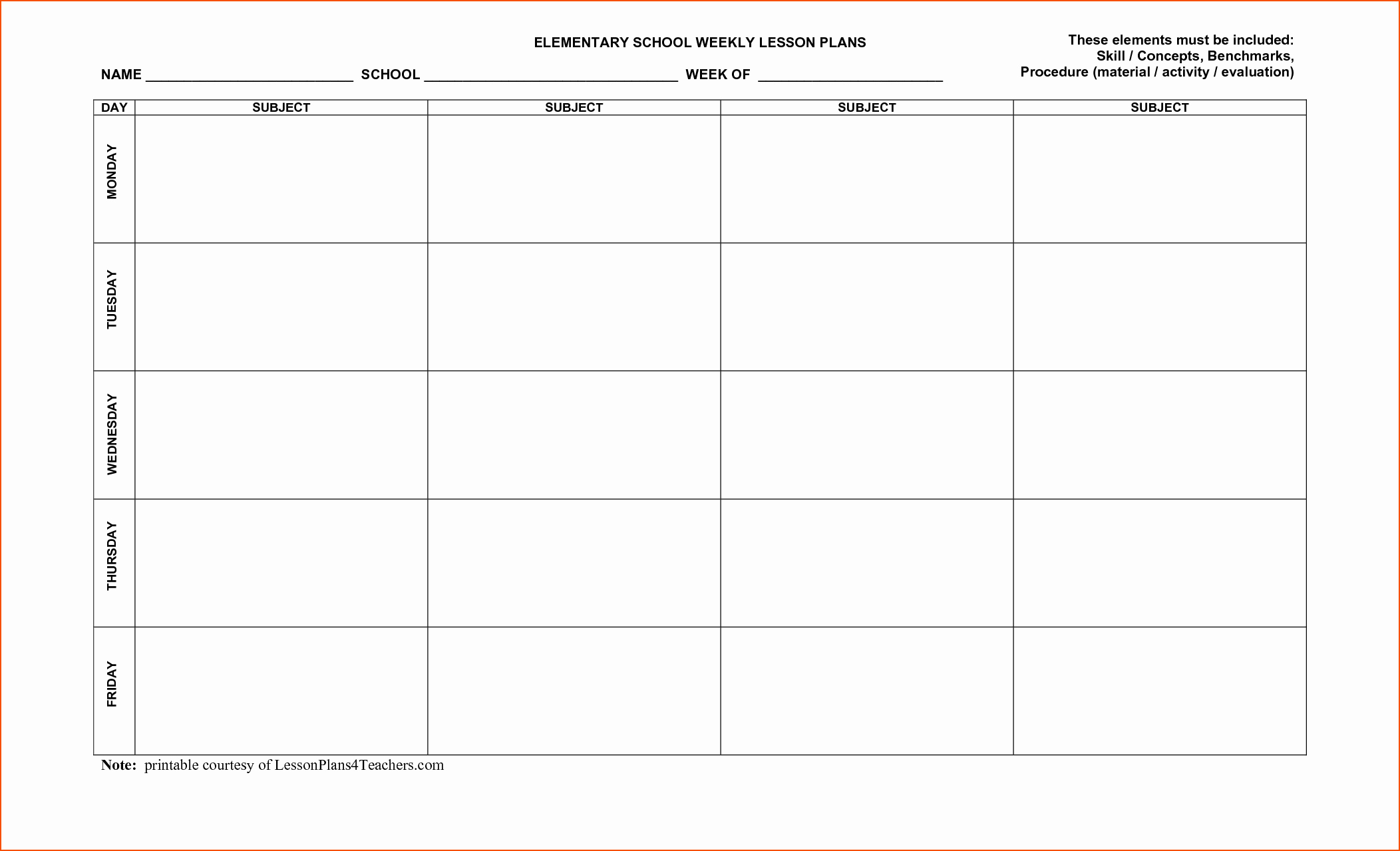Free Daily Lesson Plan Template Best Of 8 Free Printable Lesson Plan Template Bookletemplate