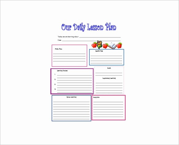 Free Daily Lesson Plan Template Elegant Daily Lesson Plan Template 14 Free Pdf Word format
