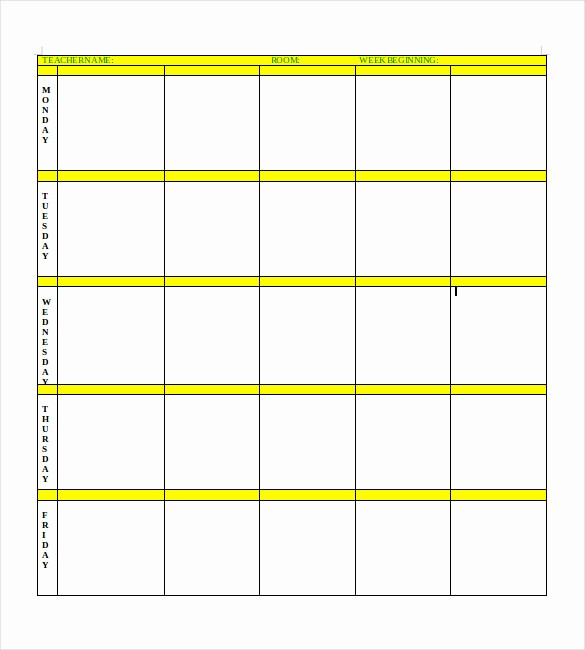 Free Daily Lesson Plan Template New Blank Lesson Plan Template – 15 Free Pdf Excel Word