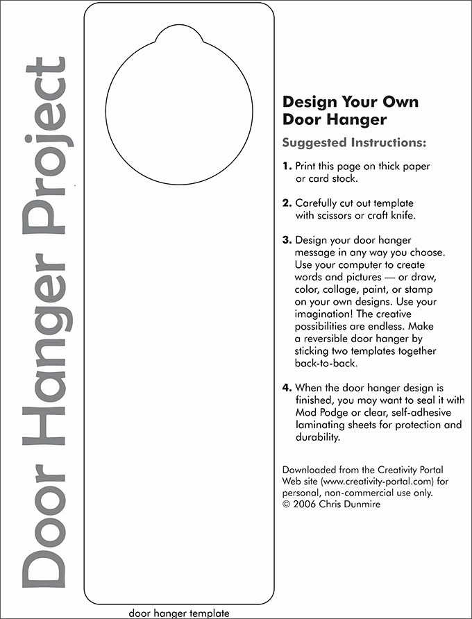 Free Door Hanger Template Word Beautiful Door Hanger Template
