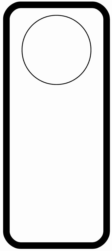 Free Door Hanger Template Word Lovely Door Hanger