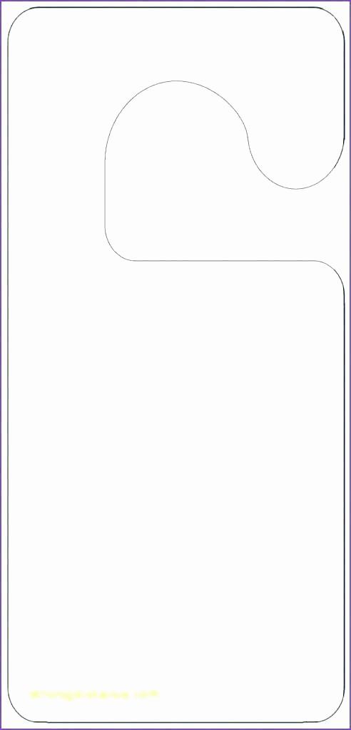 Free Door Hanger Template Word New Blank Door Hangers Door Hangers 3 Per Page X Standard