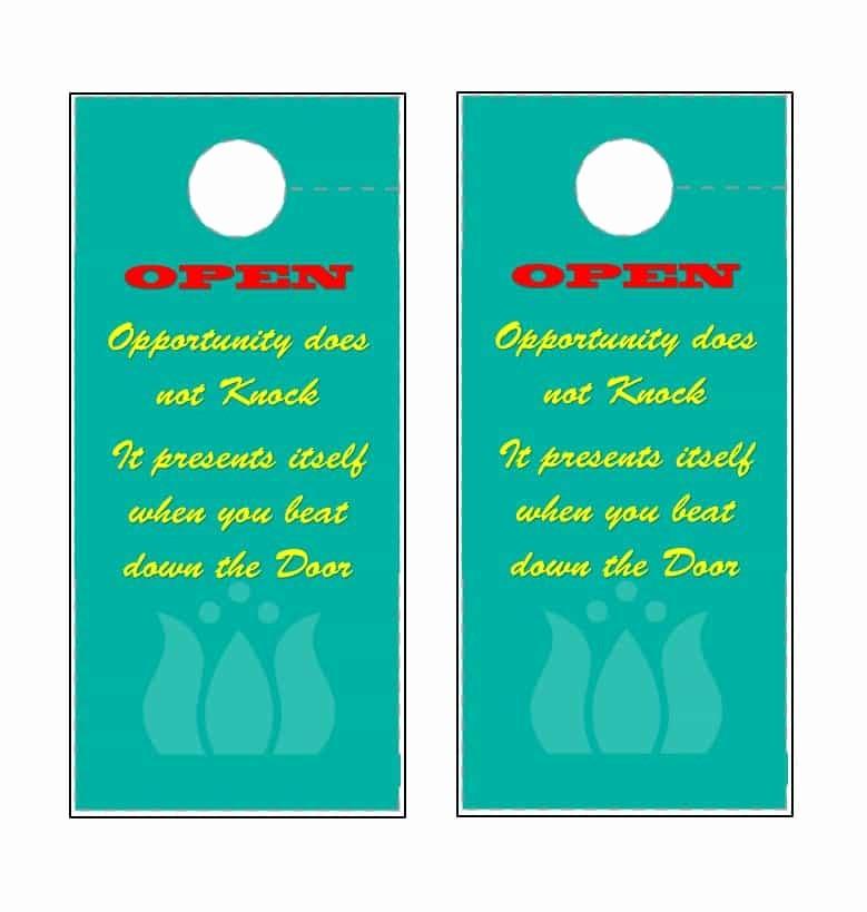Free Door Hanger Template Word New Free sorry We Missed You Door Hanger Template