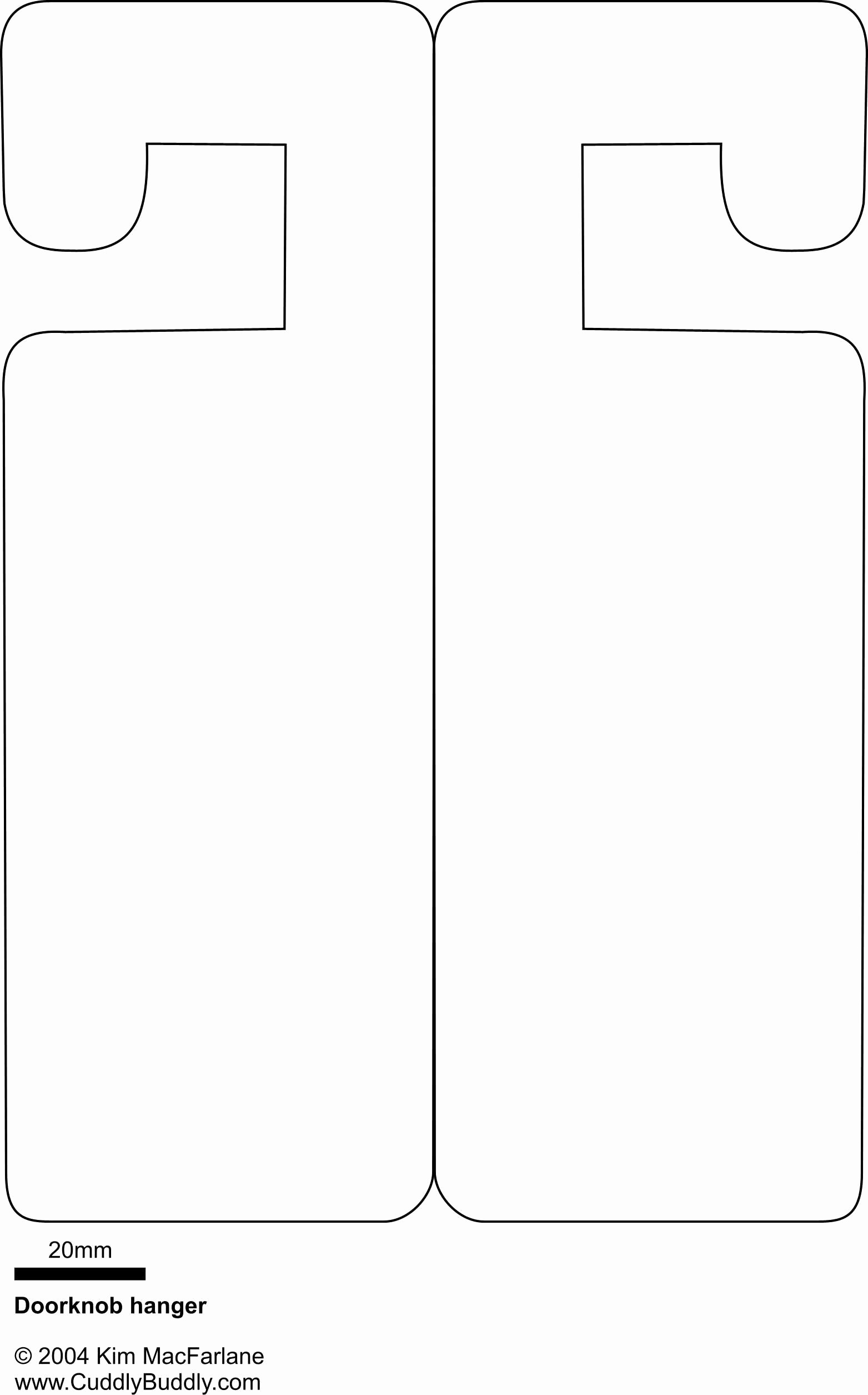 Free Door Hanger Template Word Unique Door Hanger Template