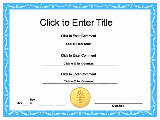 Free Download Award Certificate Templates Awesome Free Download General Award Certificate Template Sample