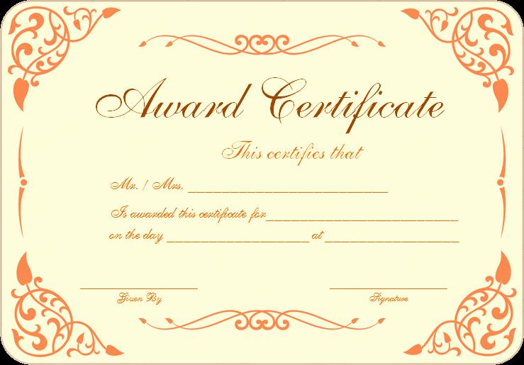 Free Download Award Certificate Templates Best Of Free Download Award Certificate Template Samples Thogati