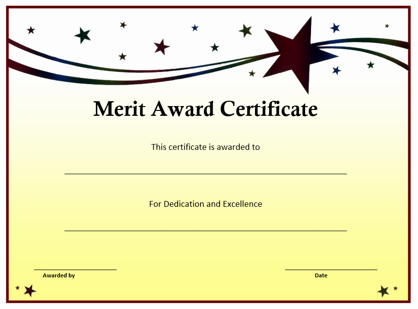 Free Download Award Certificate Templates Best Of Merit Award Certificate Template