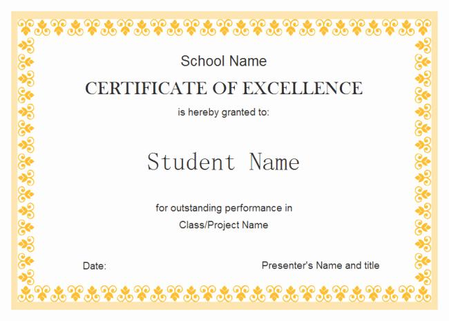 Free Download Award Certificate Templates Inspirational Customizable Certificate Templates Free Download
