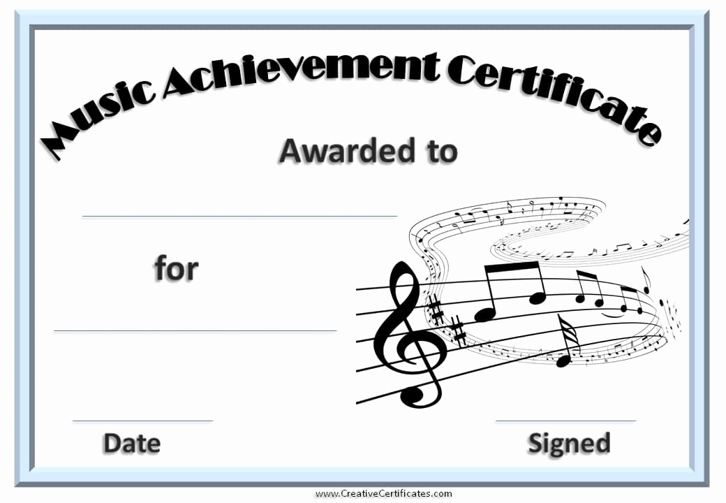 Free Download Award Certificate Templates Luxury Free Editable Music Certificate Template Free and