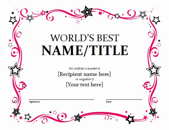 Free Download Award Certificate Templates Luxury Word Award Certificate Template Free Lt