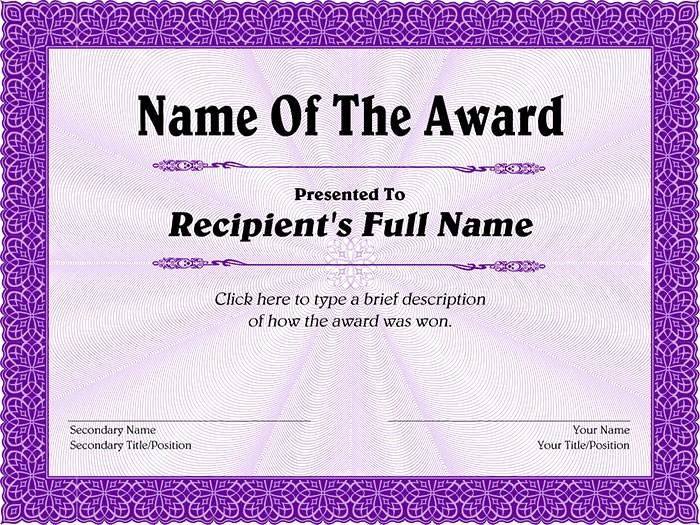 Free Download Award Certificate Templates Unique 30 Free Printable Certificate Templates to Download