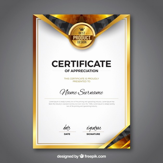 Free Download Award Certificate Templates Unique Award Certificate Vectors S and Psd Files